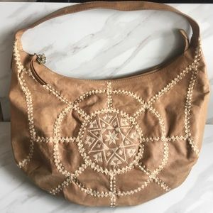 LUCKY BRAND Large Boho Hobo Leather Bag